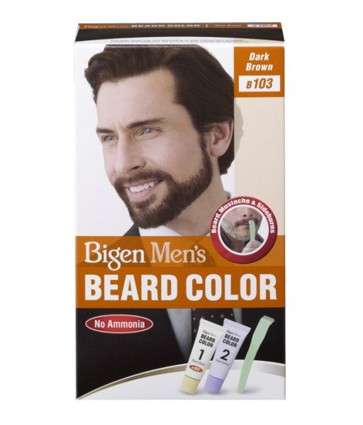 Bigen Men's Beard Color Dark Brown 103