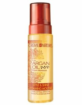 Creme of nature style & shine foaming mousse with Argan oil