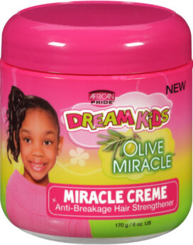 African Pride Dreams kids Anti-breakage hair strengthener olive miracle creme 6oz