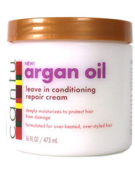Cantu Argan oil leave in conditioning repair cream 16OZ/ 473ML