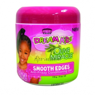 African Pride olive miracle smooth edges anti-frizzy conditioning gel 6oz