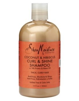 Shea Moisture Coconut & Hibiscus Curl & Shine Shampoo 13oz / 236ml