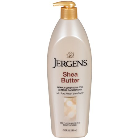 jergens shea butter deeply conditions for 3x more radiant skin 16oz