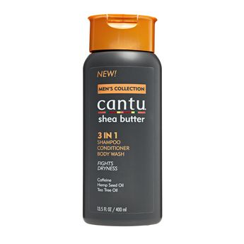 Cantu For Me Shea Butter 3 IN 1 Shampoo Conditioner Body Wash Fight Dryness 13.5oz 400ml