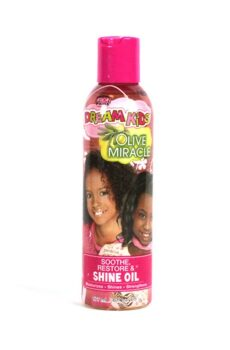 African Pride Dream kids Olive miracle soothe restore & shine oil 177ml/ 6oz