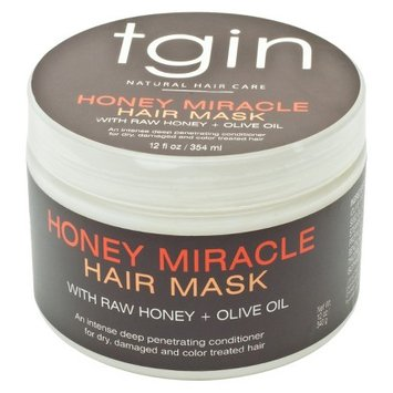 Tgin Honey Miracle Hair Mask With Raw Honey + Olive Oil 12oz 340g