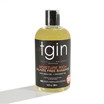 Tgin Moisture Rich Sulfate Free Shampoo With Amla Oil + Coconut Oil 14.5oz 400ml