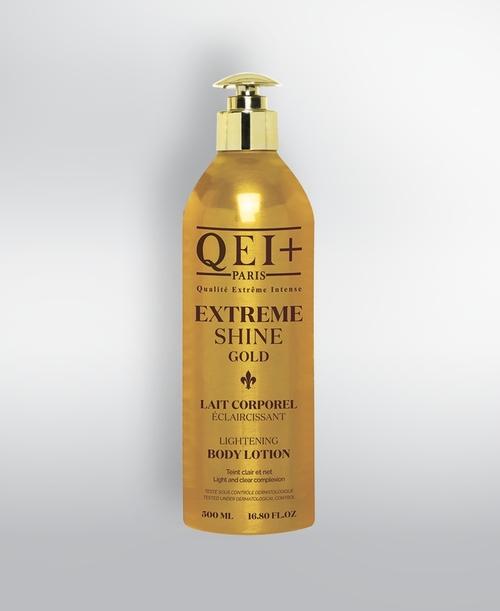 Qei Extreme Shine Gold Lightening Body Lotion 500ml 16oz